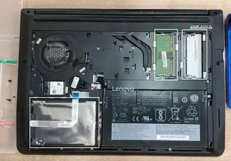 Lenovo联想ThinkPad E475升级固态硬盘和内存条视频教程
