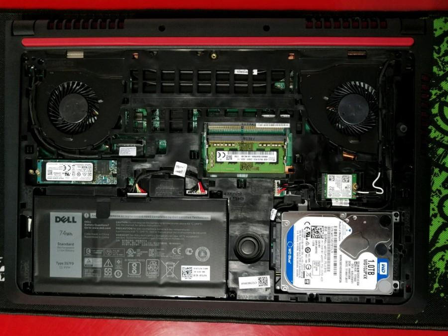 戴尔Inspiron15-Speed-5577拆机安装M.2 固态硬盘