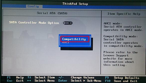 Think PadE431笔记本更改硬盘模式bios设置教程插图(3)