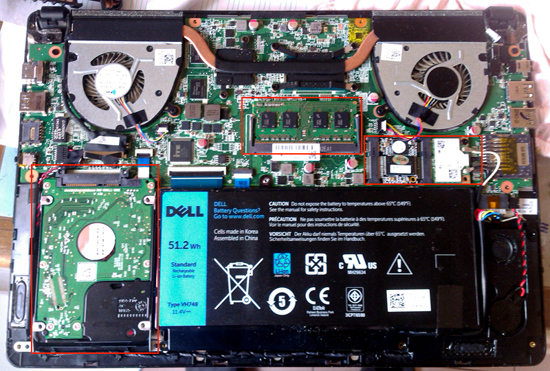 戴尔 Inspiron 5439拆机加装固态硬盘和内存条以及重装系统教程插图(3)