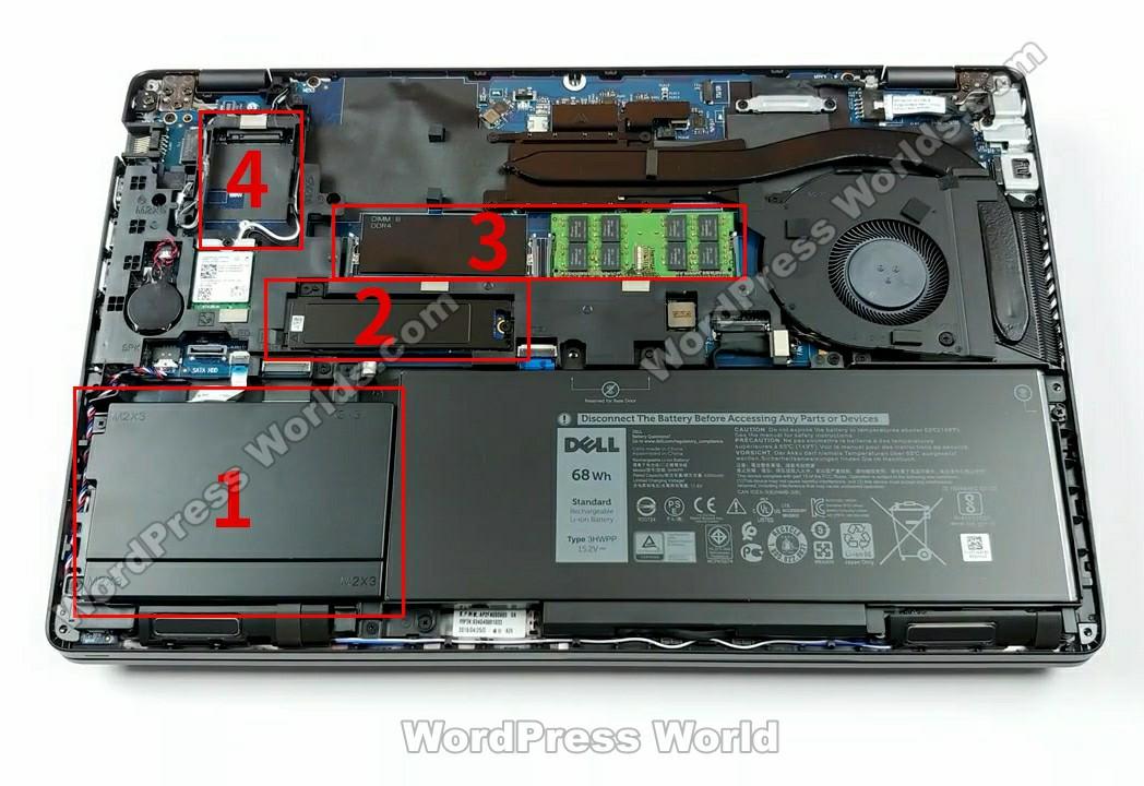 戴尔 latitude 5501拆机-内部硬件排布