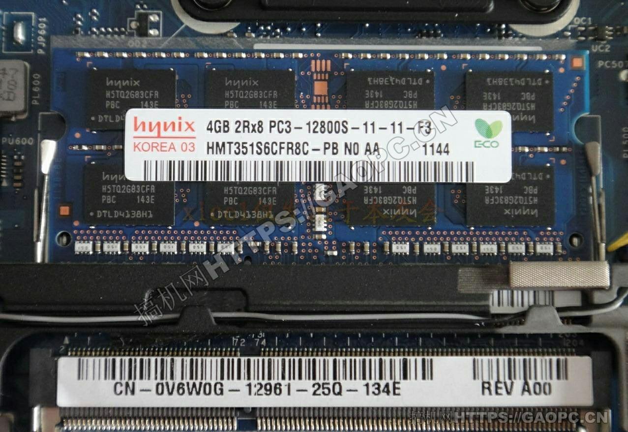 戴尔 Latitude E6230拆机 内存插槽特写