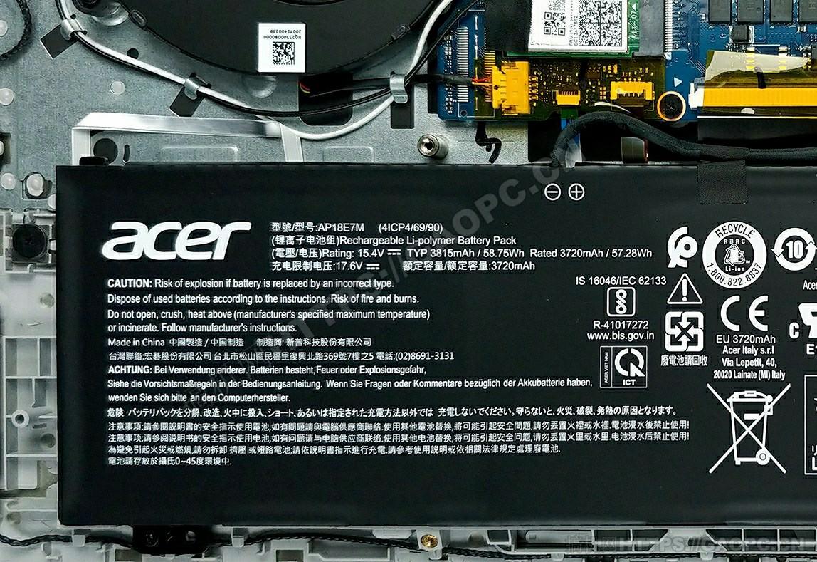 宏碁swift 3x(sf314 510g)电池
