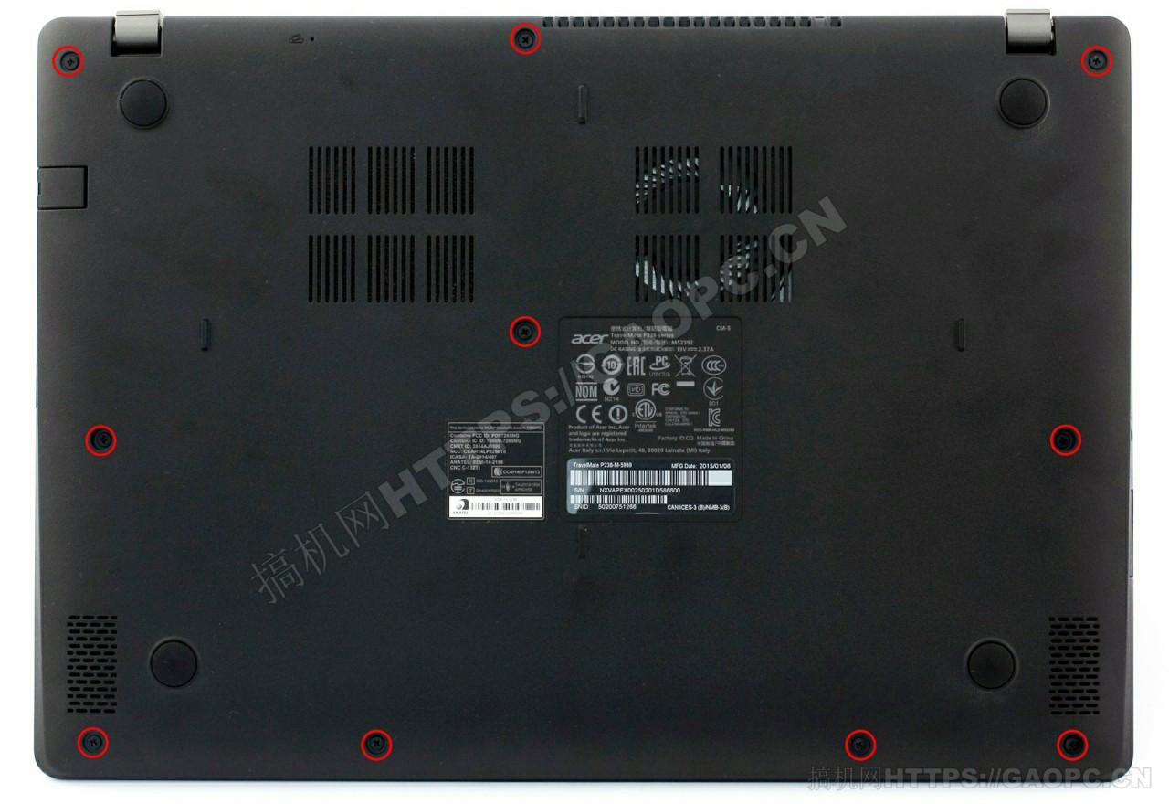 宏碁TravelMate P236拆机:优秀的配置同样具备内存和固态扩展