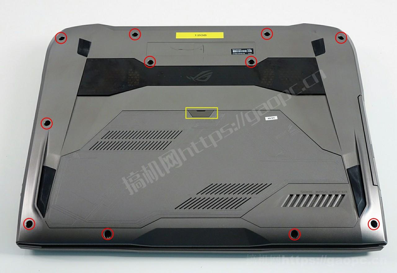 华硕ROG G752拆机加装M.2固态硬盘和内存条教程