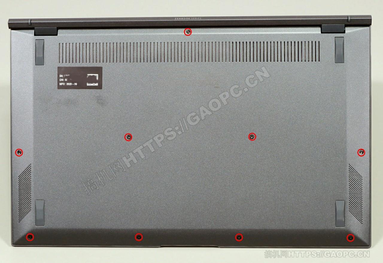 华硕zenbook 14 Ultralight Ux435背面