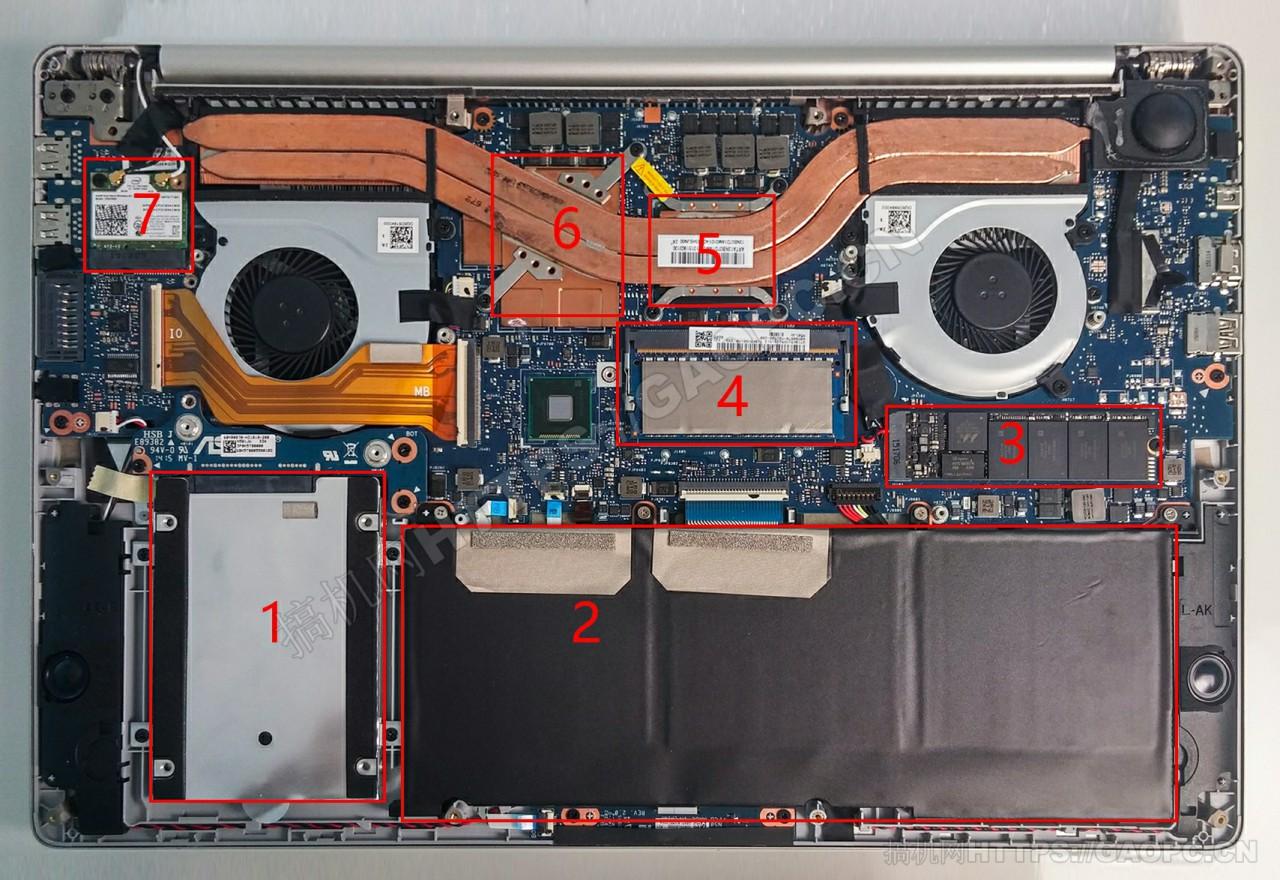 华硕zenbook Pro Ux501机身内部硬件排布