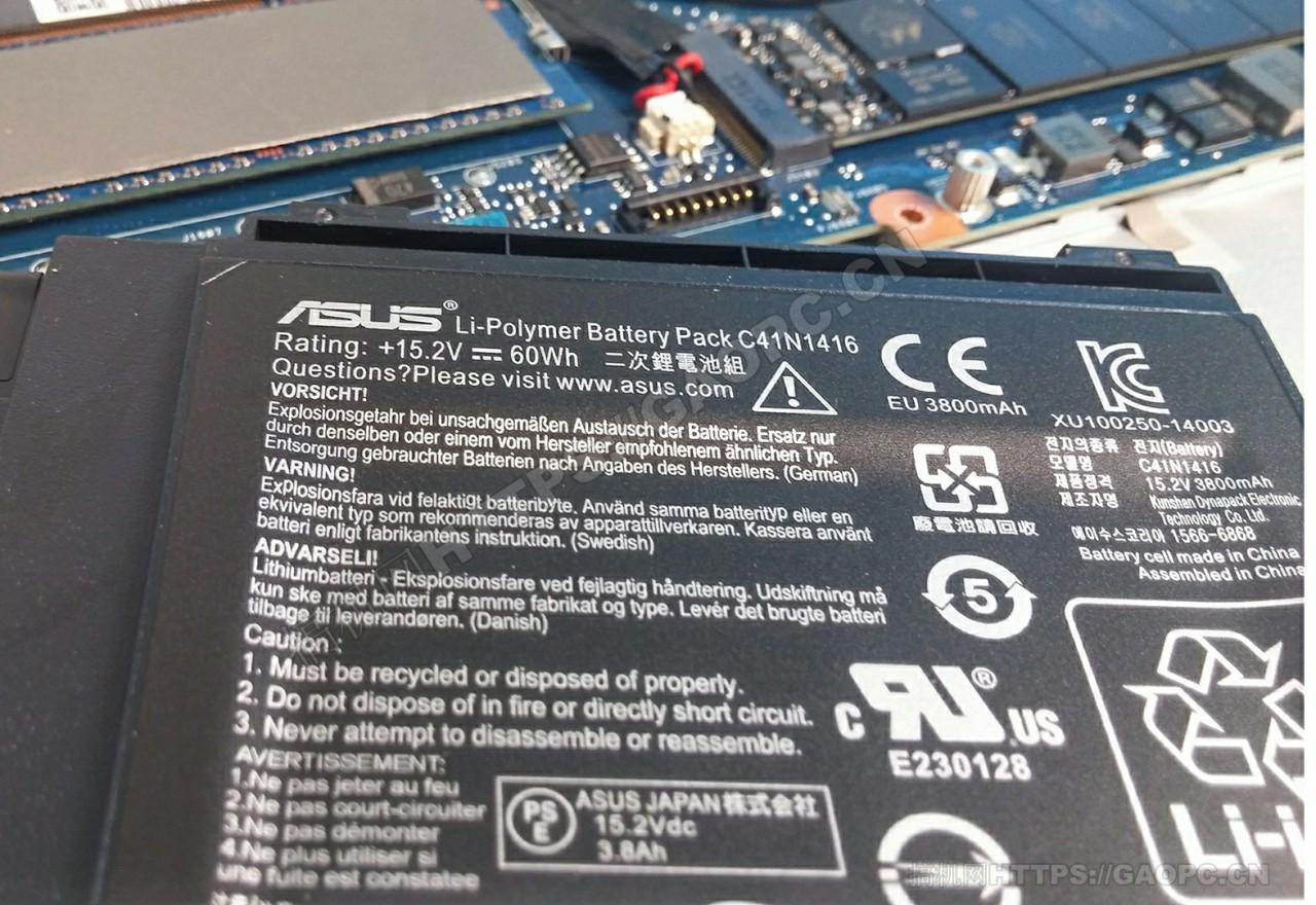 华硕zenbook Pro Ux501 60w锂电池