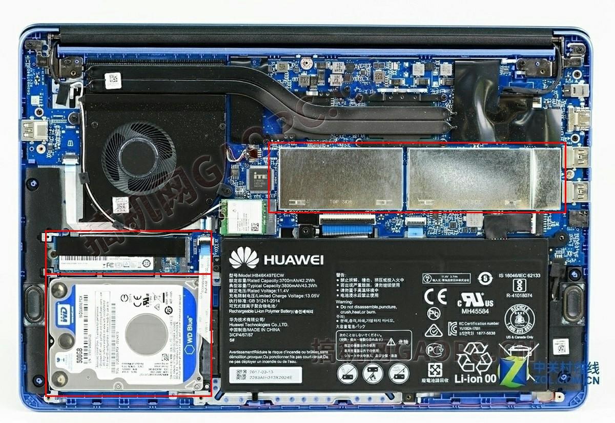 华为MateBook D 2018拆机加装内存和固态硬盘