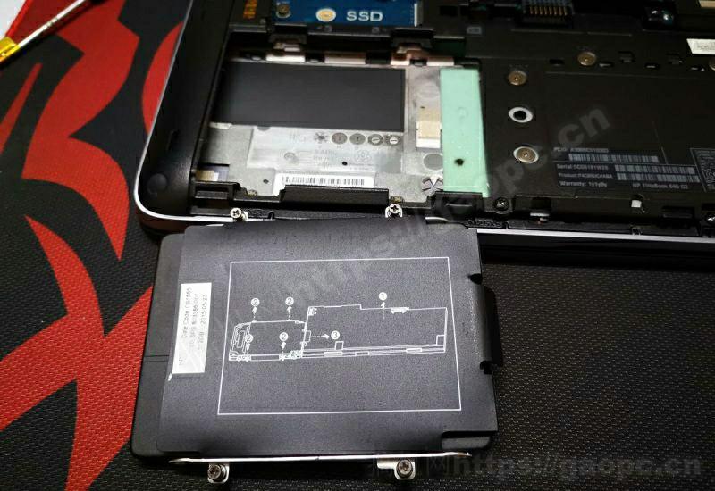 惠普EliteBook 840 G2拆机-sata机械硬盘特写