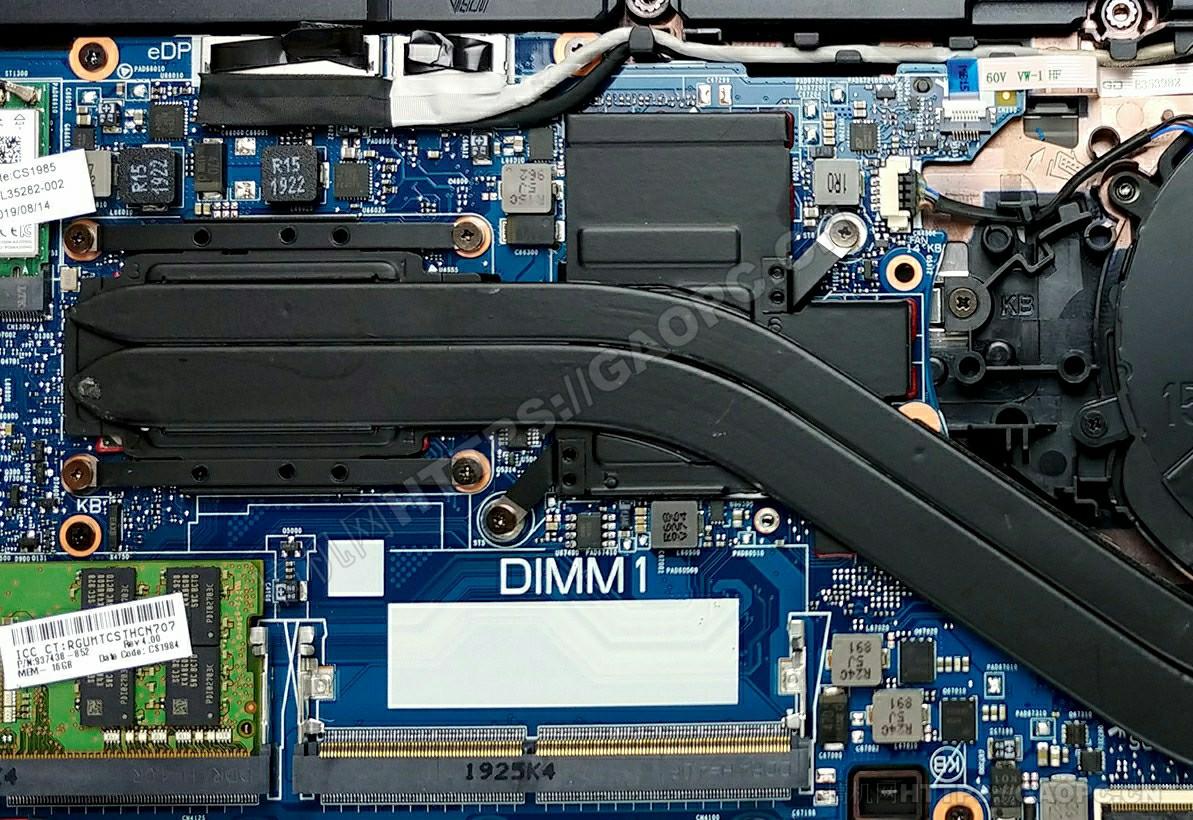 惠普 Zbook 15u G6内存插槽