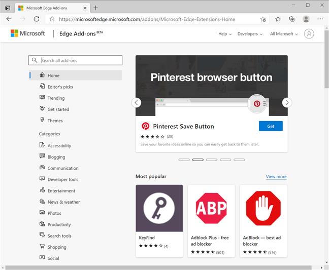 如何正确获取配置和删除Microsoft Edge扩展