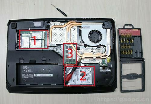 镭波 F760-P拆机-内部硬件排布