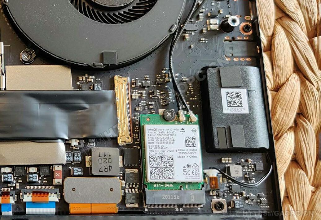 雷蛇blade 15 Advanced拆机 Intel网卡