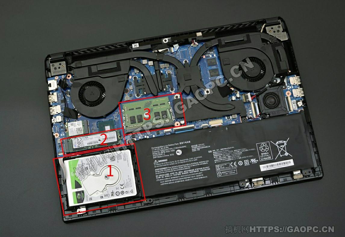 雷神911s拆机 内部硬件排布