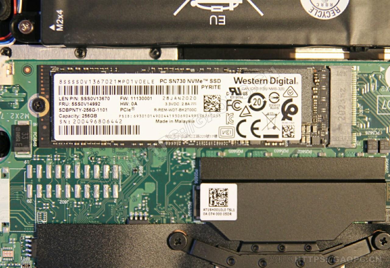 联想ideapad S540 13iwl M.2 Pcie 西部数据sn730固态硬盘