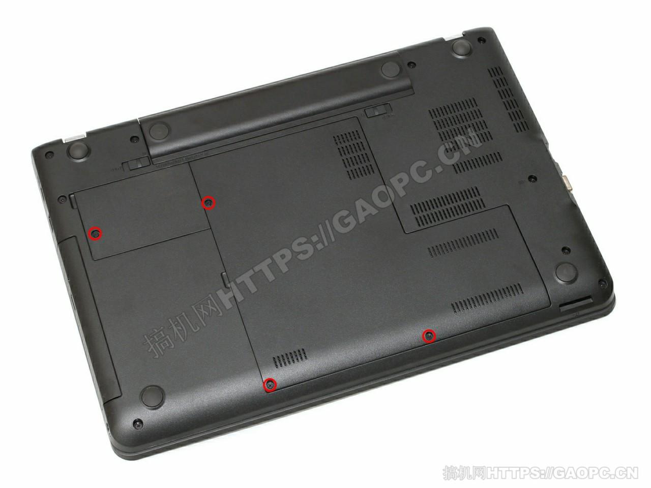 联想thinkpad E560背面待拆螺丝
