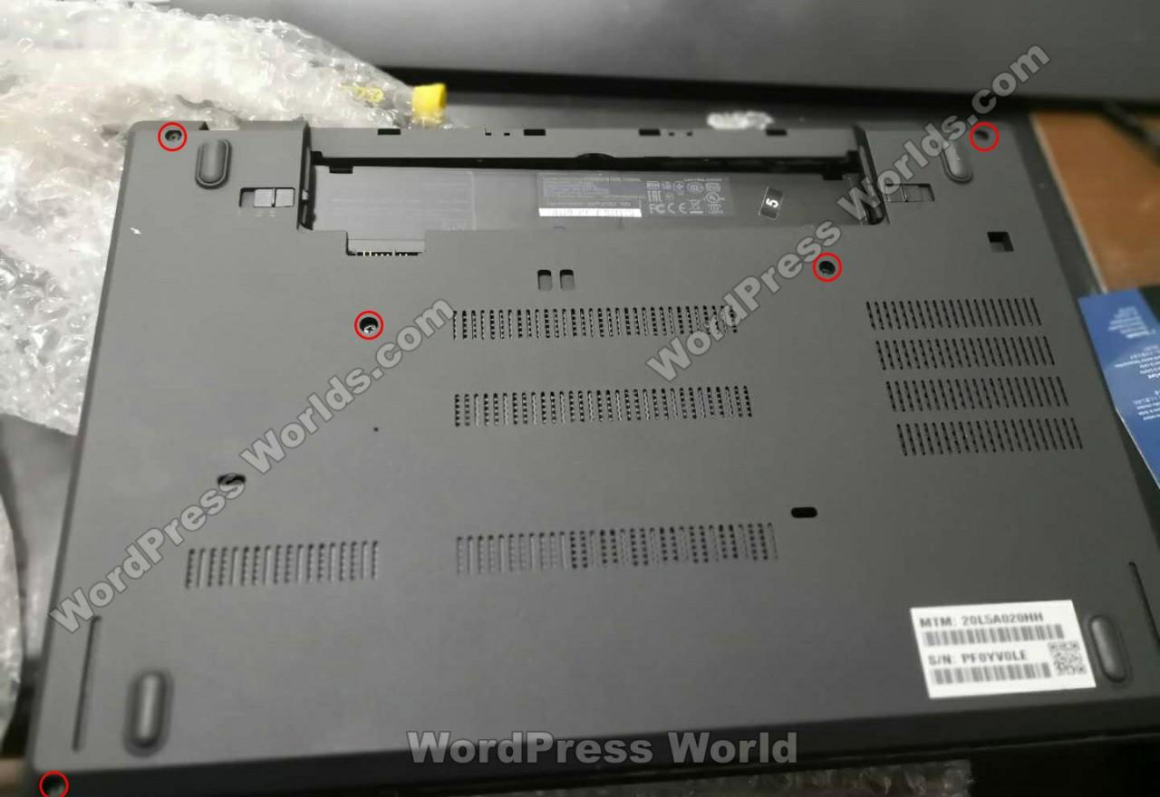 联想 ThinkPad T480拆机-机身背面