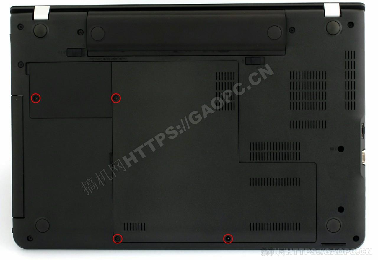 联想thnkpad E550机身背面待拆螺丝