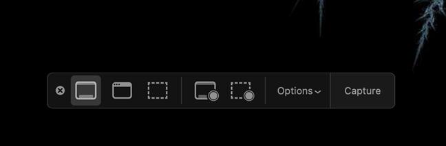 用于获取Mac屏幕截图的覆盖界面