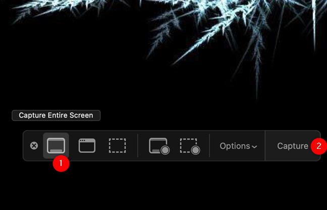 """使用""""捕获整个屏幕""""在Mac上获取整个屏幕截图"""
