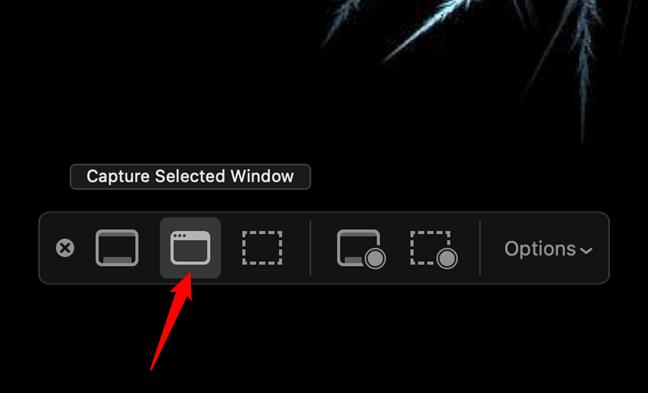 """在Mac上,使用""""捕获所选窗口""""拍摄应用程序的屏幕截图"""