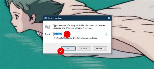 如何使用任务管理器打开文件资源管理器或Windows资源管理器