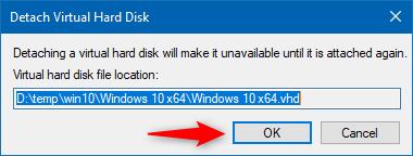 Detach Virtual Hard Disk
