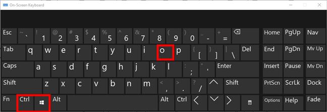 Windows 10的屏幕键盘