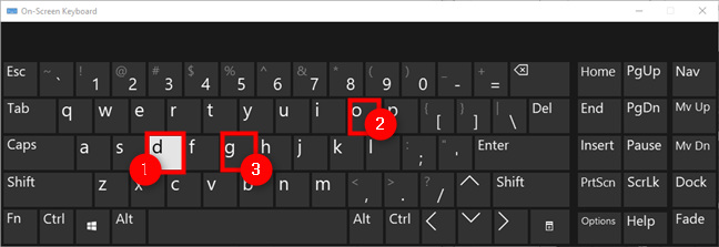 在Windows 10虚拟键盘上打字