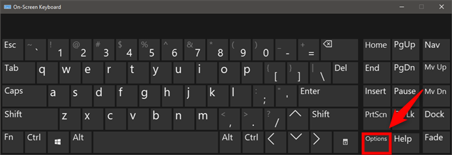 屏幕键盘选项