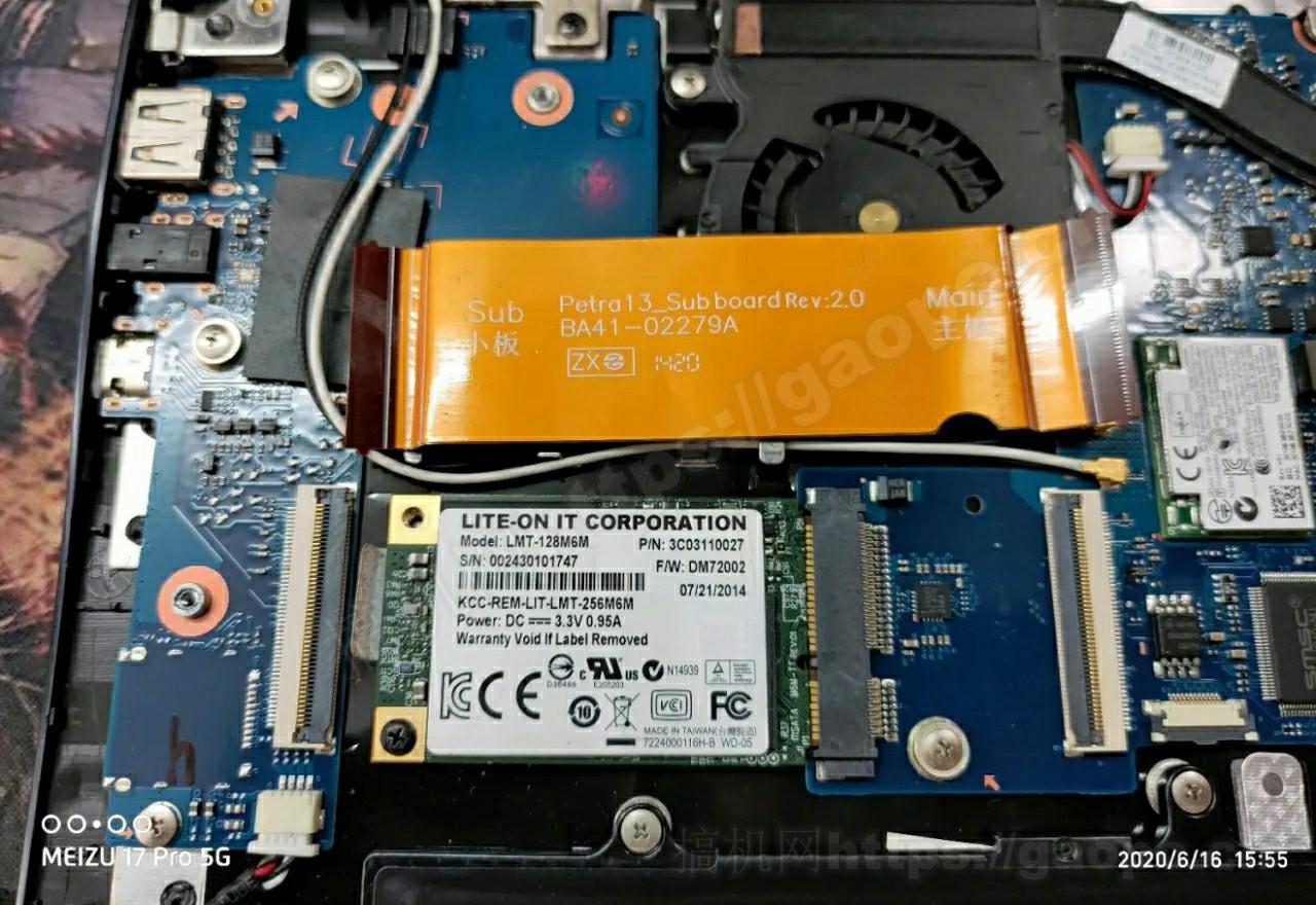三星905S3G拆机-MSATA固态硬盘特写