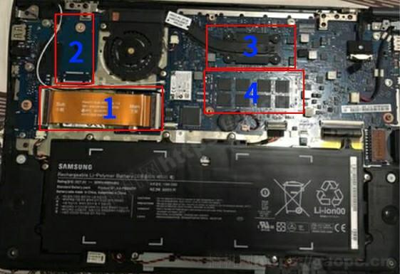 三星905S3G拆机-内部硬件排列