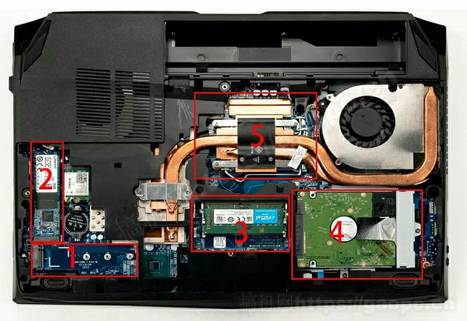 神舟战神TX8 拆机-内部硬件排布