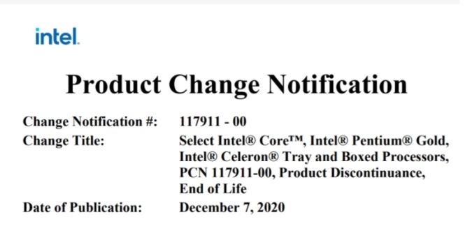 特尔宣布 9 代酷睿桌面处理器停产!
