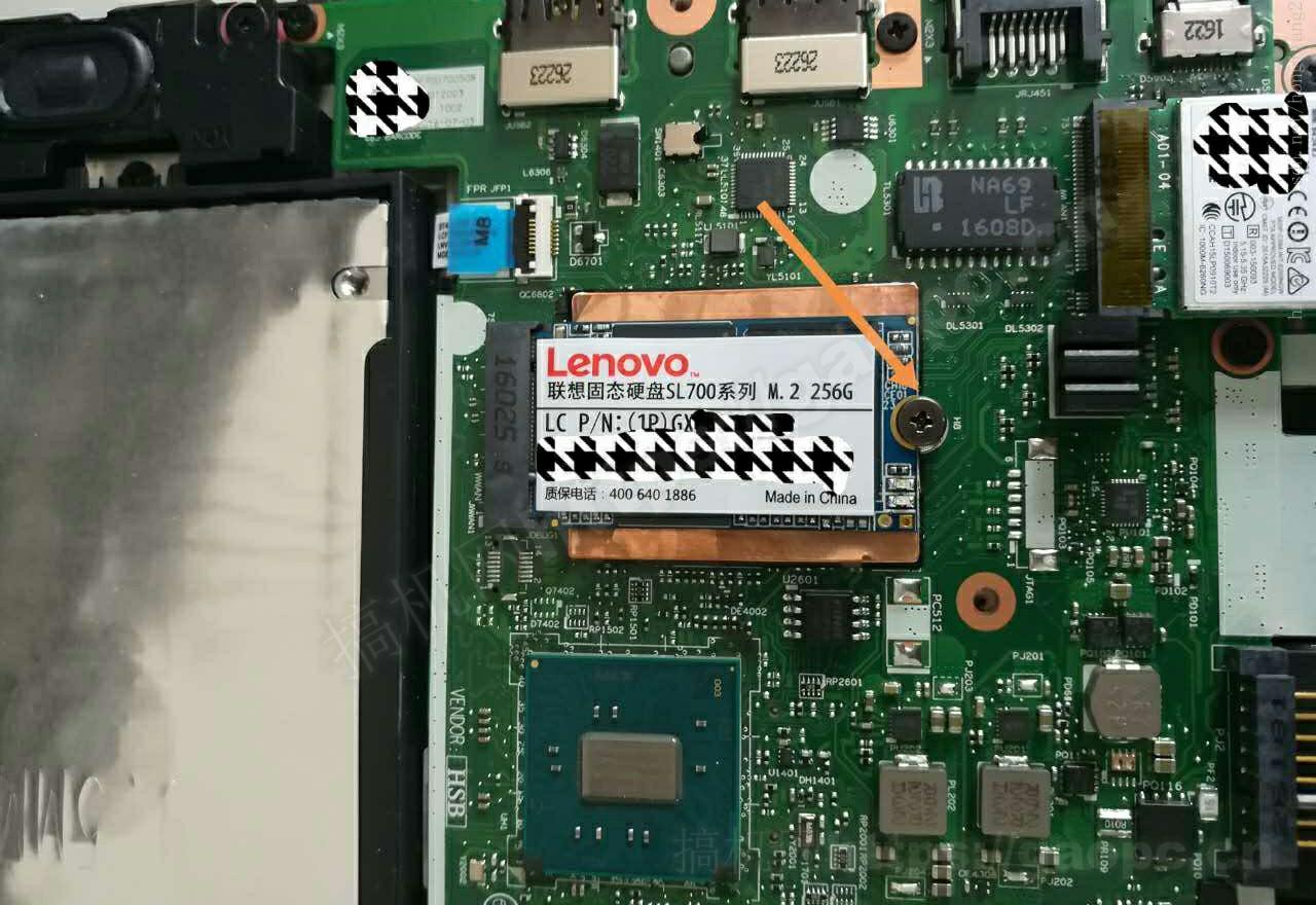 ThinkPad T460P拆机-M.2固态硬盘特写
