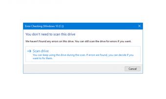 如何在Windows 10中使用检查磁盘(chkdsk)测试和修复硬盘驱动器错误