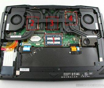 微星 GT80 Titan(2014四代处理器)拆机-升级M.2固态硬盘和DDR3内存条