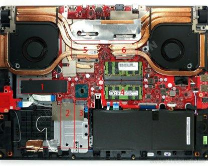 华硕ROG Strix SCAR 17 G732拆机:居然搭配3个M.2插槽