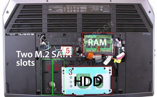 戴尔外星人Alienware 15 2015拆机:居然配备了4个M.2硬盘接口