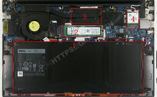 戴尔XPS 13(9350)拆机升级M.2 PCIE固态硬盘