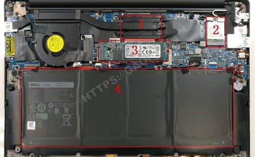 戴尔XPS 13(9360)2016拆机升级M.2 固态硬盘