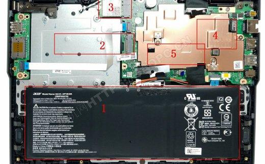 宏碁TravelMate B1(B118)拆机升级M.2固态硬盘