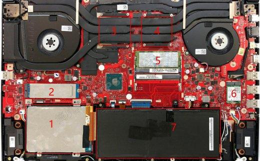 华硕ROG GL704(SCAR II HERO II)拆机加装固态硬盘和内存条