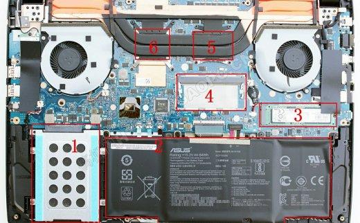 华硕ROG Strix GL502拆机加装固态硬盘和内存条