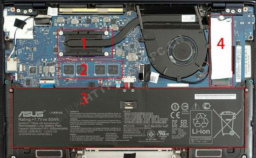 华硕ZenBook S UX391U 2018拆机升级M.2 PCIE NVME固态硬盘