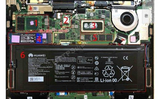华为MateBook x Pro 2019拆机升级M.2 PCIE固态硬盘