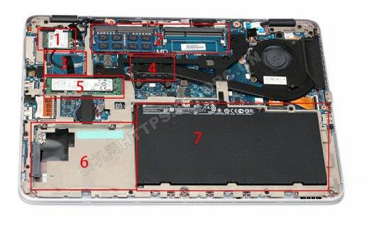 惠普EliteBook 745 G3拆机升级固态硬盘和内存条