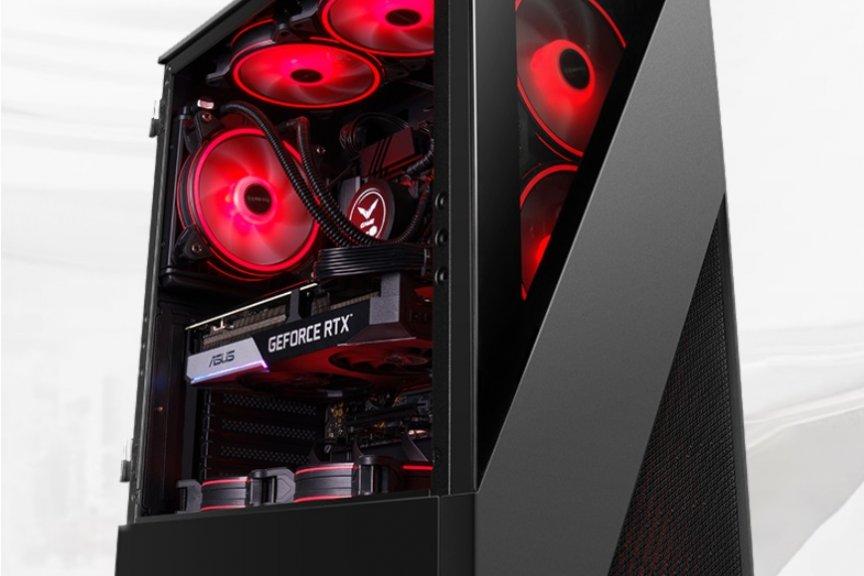 攀升黑色侧透电竞主机performance:十代 i7+RTX 2060,全系标配 16G 3200 内存