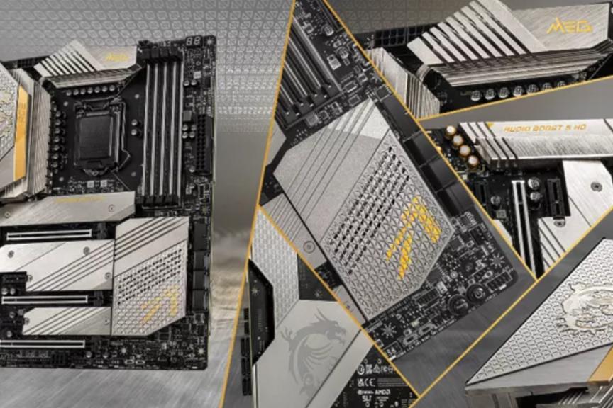 微星发布超帅主板 24K金限量 MEG Z590 ACE 战神主板